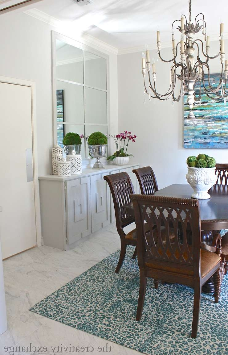 Getting Creative With Oversized Mirrors And Diy Framework In Mirror Over Sideboards (View 7 of 20)