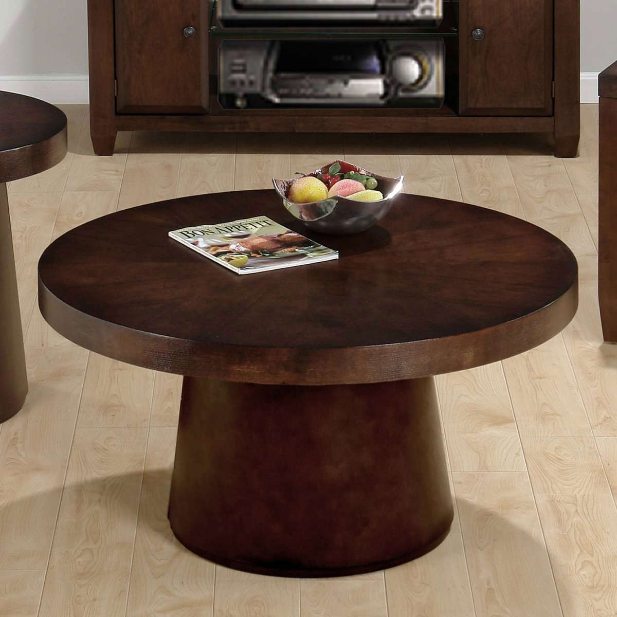 Glamorous Small Round Coffee Table Wood – Round Coffee Table Regarding Widely Used Dark Wood Round Coffee Tables (View 2 of 20)