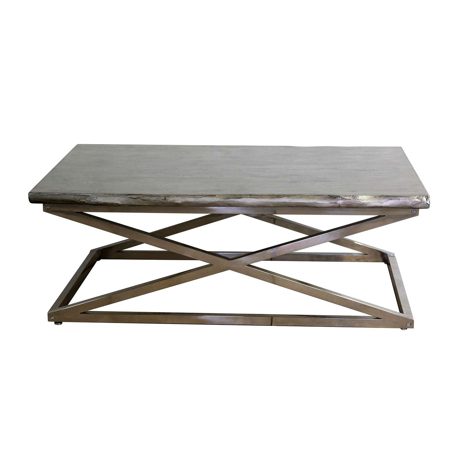 Glass And Chrome Coffee Table Ideas Table / Thippo Inside Most Recent Wood Chrome Coffee Tables (Gallery 3 of 20)