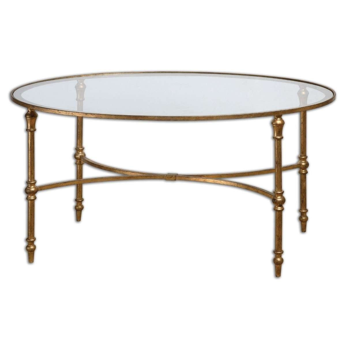 Glass And Iron Coffee Tables Uk Round Glass Coffee Table Metal Intended For Most Popular Coffee Tables Metal And Glass (View 11 of 20)
