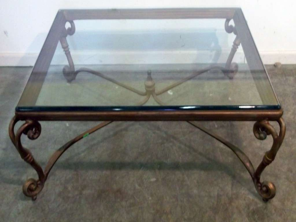 Glass And Metal Coffee Table Best Of Stylish Glass Top Square Regarding Most Recent Metal Coffee Tables With Glass Top (View 13 of 20)