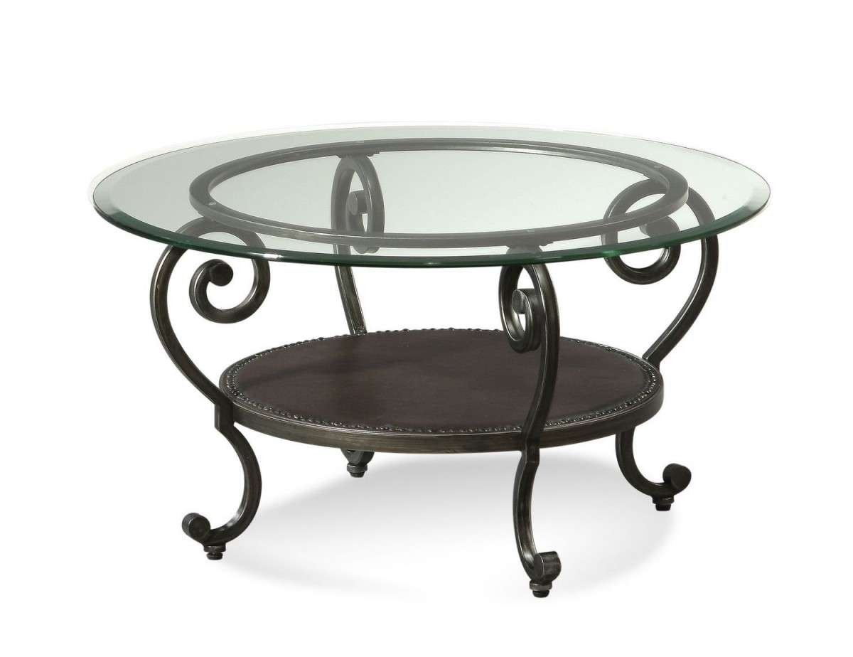 Glass And Metal Coffee Table With Regard To Recent Round Metal Coffee Tables (View 8 of 20)