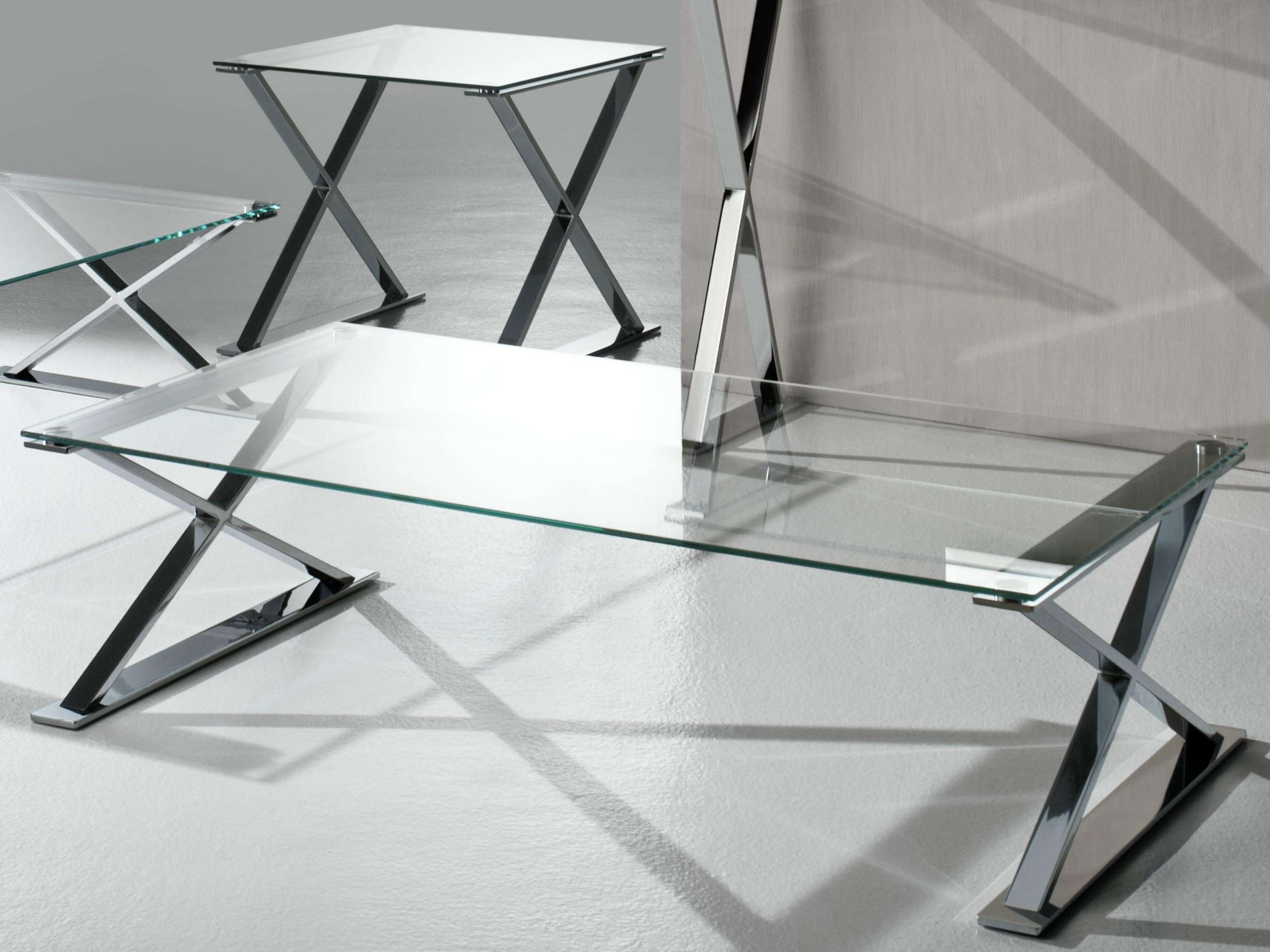 Glass And Stainless Steel Coffee Table (Gallery 17 of 20)