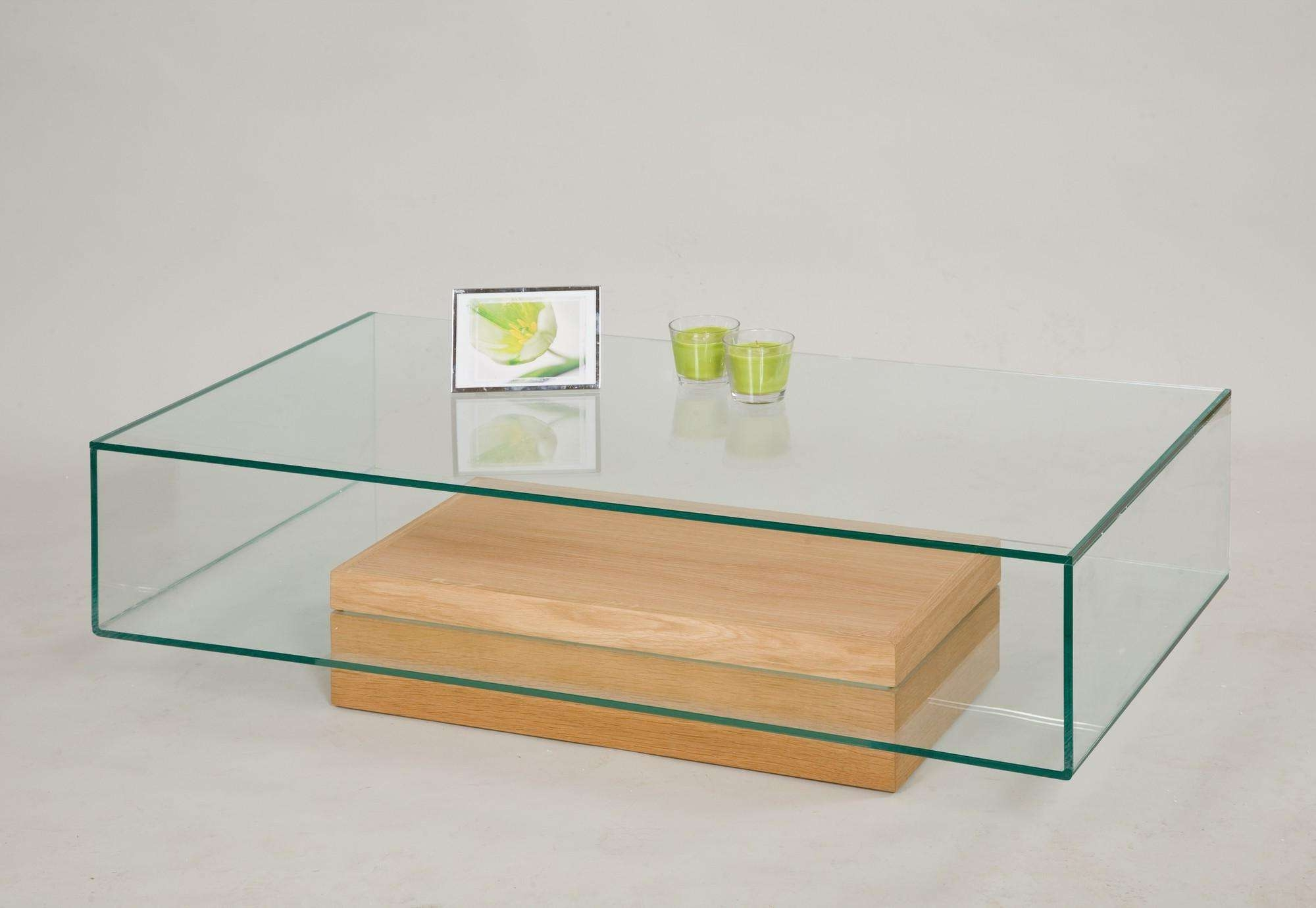 Glass Coffee Table With Oak Base From Tannahill Furniture Ltd Regarding Well Liked Oak And Glass Coffee Tables (View 10 of 20)