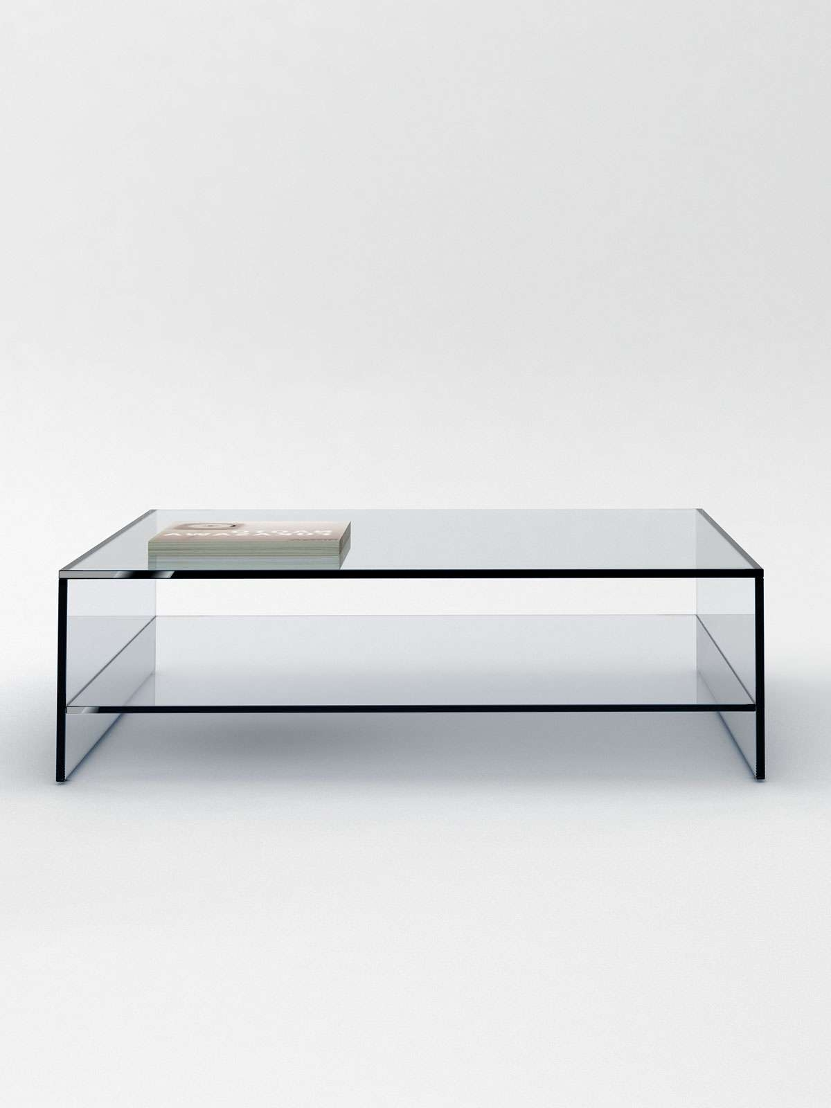 Glass Coffee Table With Shelf – Coffee Tables Made To Order (View 3 of 20)