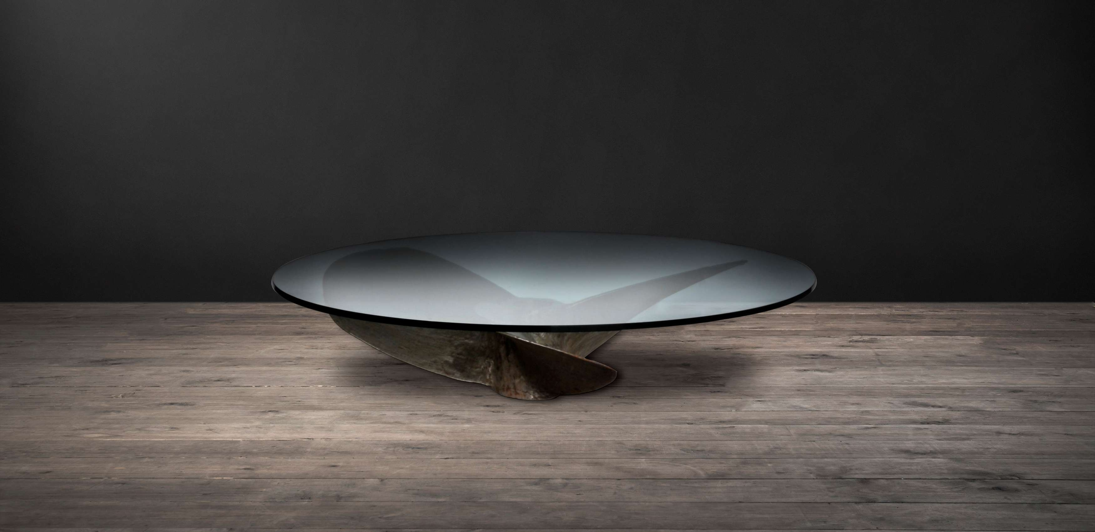 Glass Coffee Tables – Junk Art Round (View 6 of 20)