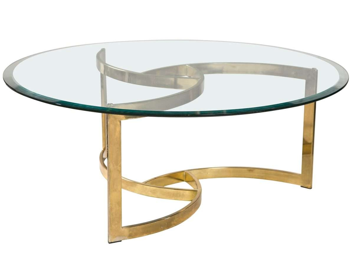 Glass Round Coffee Table For Simple Modern Home Intended For Fashionable Glass Circle Coffee Tables (View 9 of 20)
