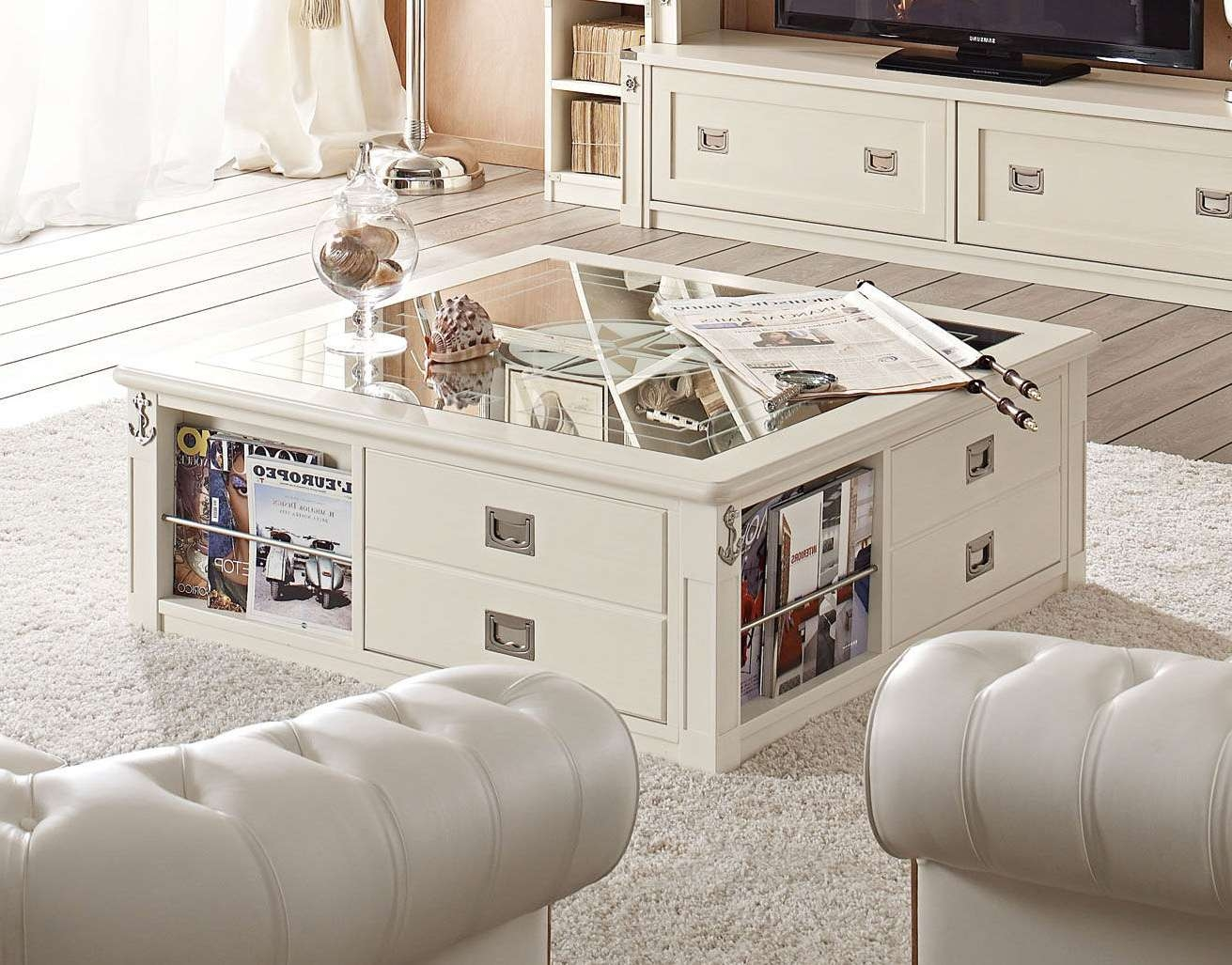 Glass Storage Coffee Table – Amazing Home Design Regarding Preferred Low Coffee Table With Storage (View 12 of 20)