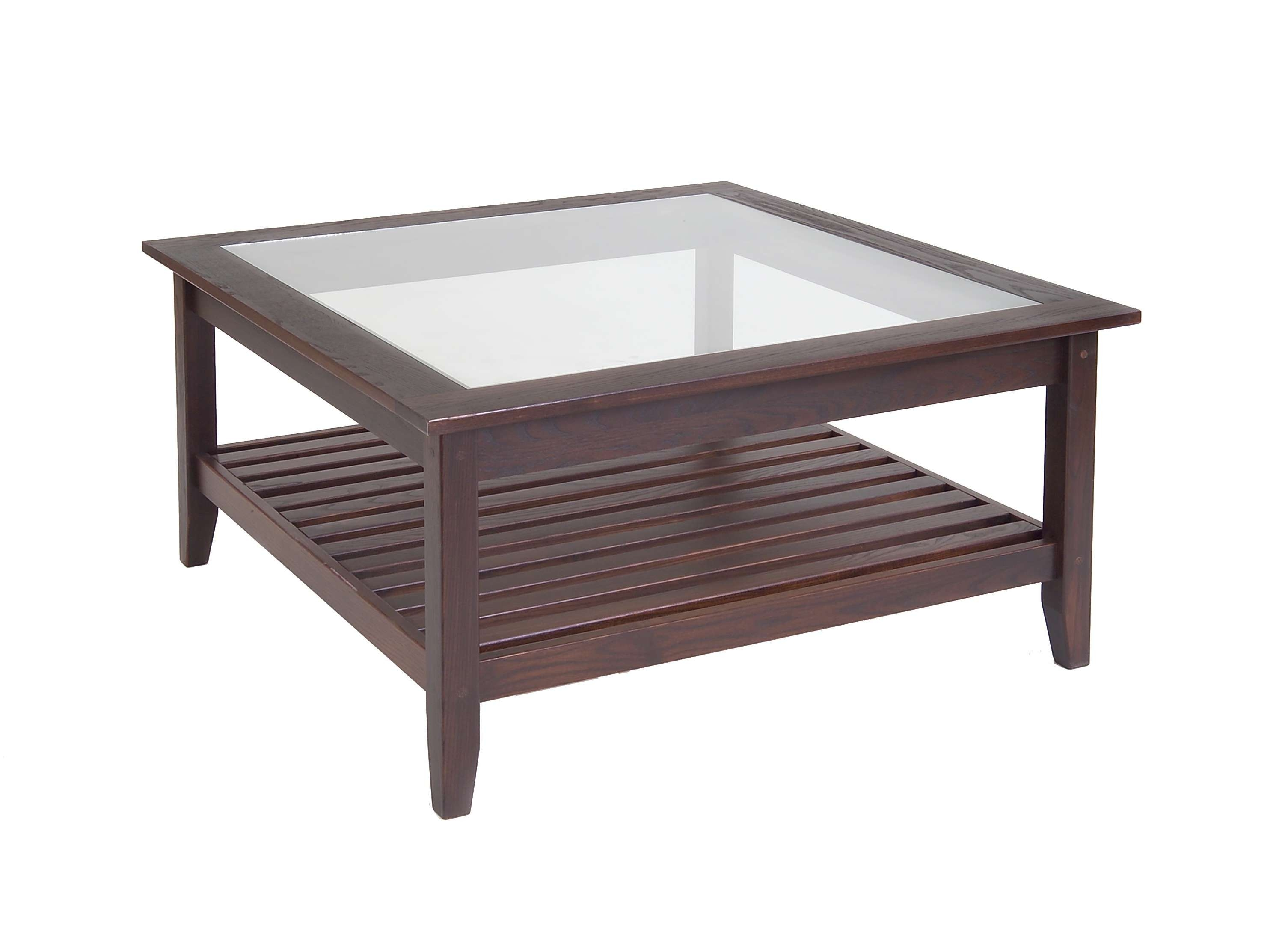 Glass Top Large Square Glass And Metal Coffee Tables Glass Box Regarding 2018 Glass Topped Coffee Tables (View 11 of 20)