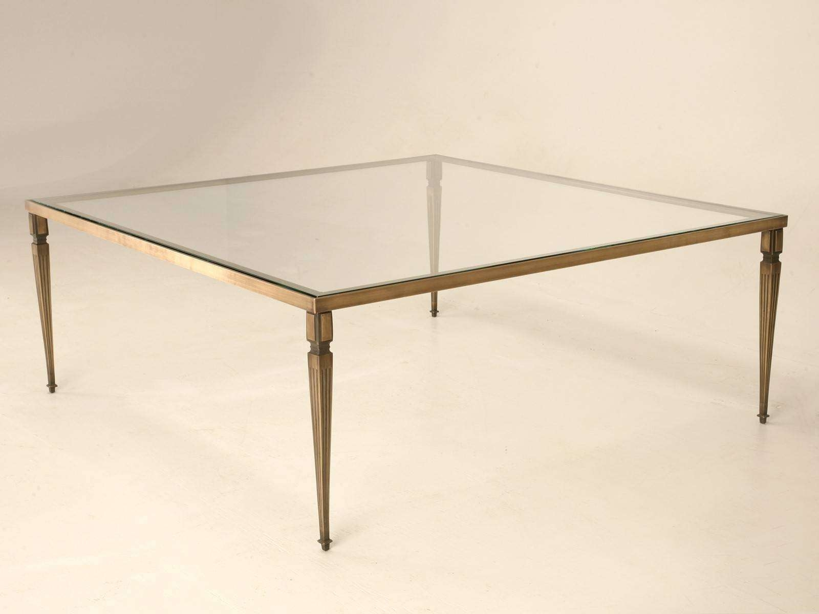 Glass Top Large Square Glass And Metal Coffee Tables Glass Box With Most Current Large Square Glass Coffee Tables (View 10 of 20)