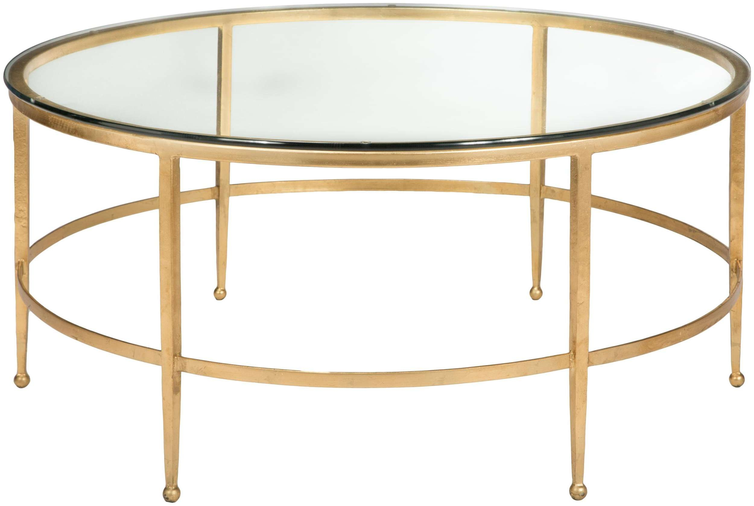 Glass Top Round Coffee Table – Safavieh (View 6 of 20)