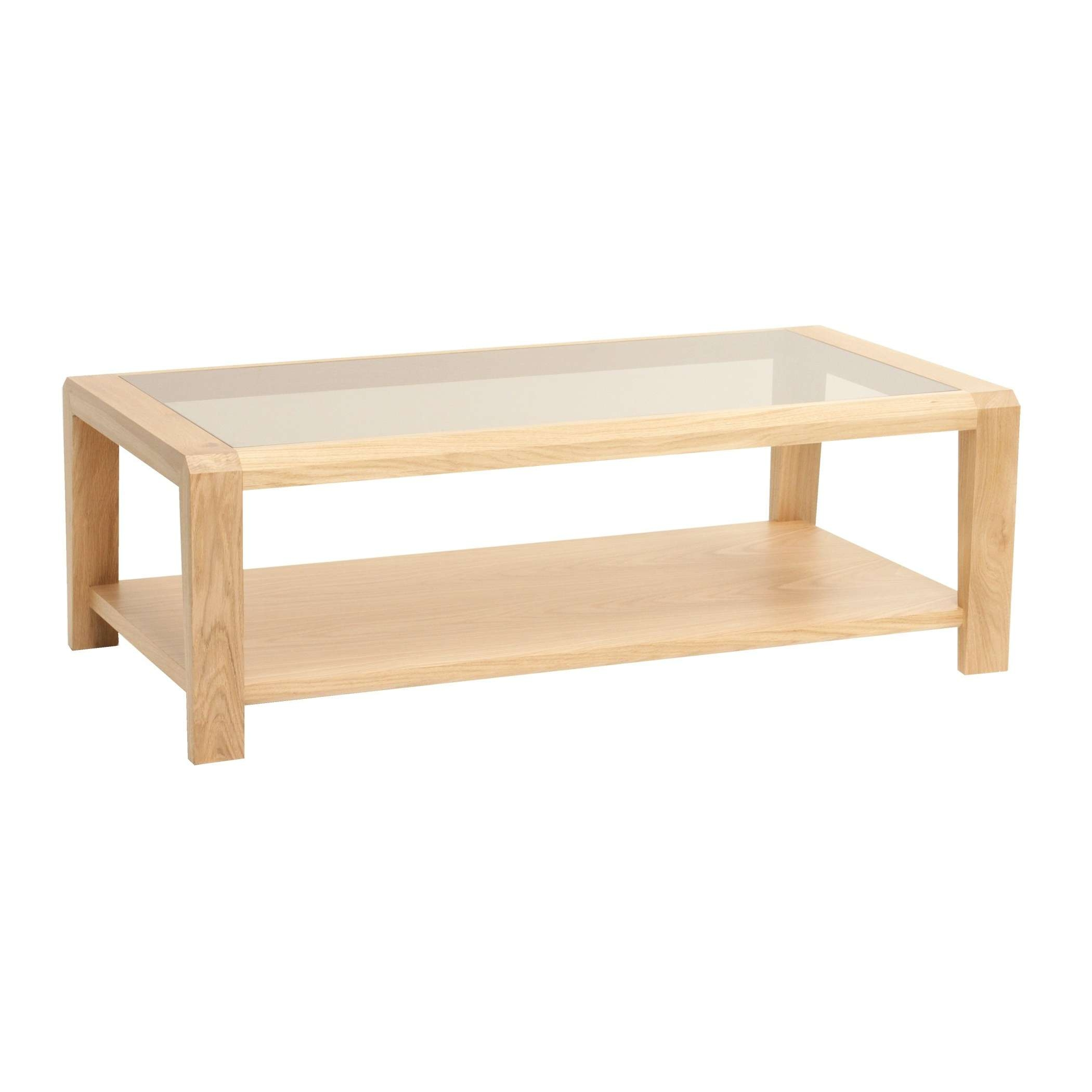 Glass Top Solid Oak Coffee Table Is This Lovely Recycled Wood Iron With Regard To Well Known Oak Veneer Coffee Tables (View 5 of 20)