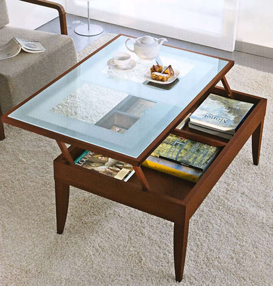 Glass Top Storage Coffee Table Beautiful Glass Top Coffee Tables Intended For Trendy Glass Top Storage Coffee Tables (Gallery 3 of 20)