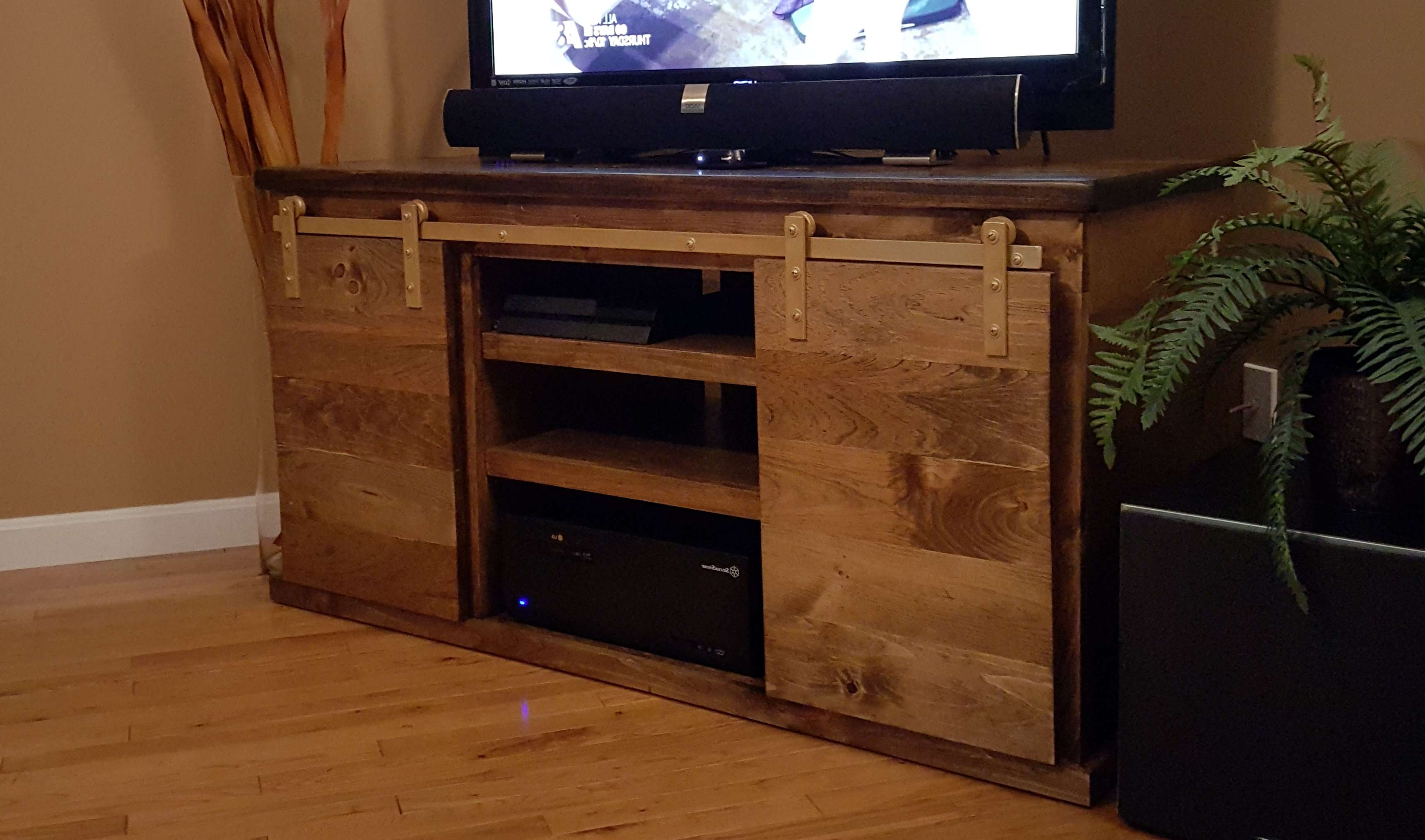 Glass Tv Cabinet With Doors Gallery – Doors Design Ideas Within Wooden Tv Cabinets With Glass Doors (View 8 of 20)