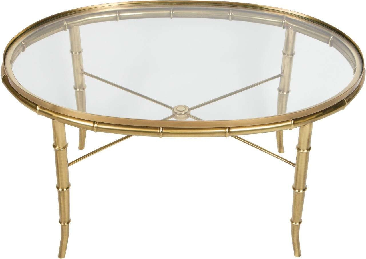 Gold Bamboo Glass Coffee Table Rascalartsnyc