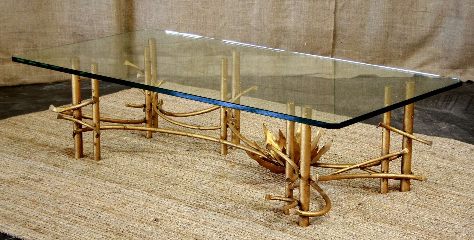 Gold Bamboo Glass Coffee Table Inspirational Excellent Bamboo Intended For Most Up To Date Gold Bamboo Coffee Tables (View 11 of 20)