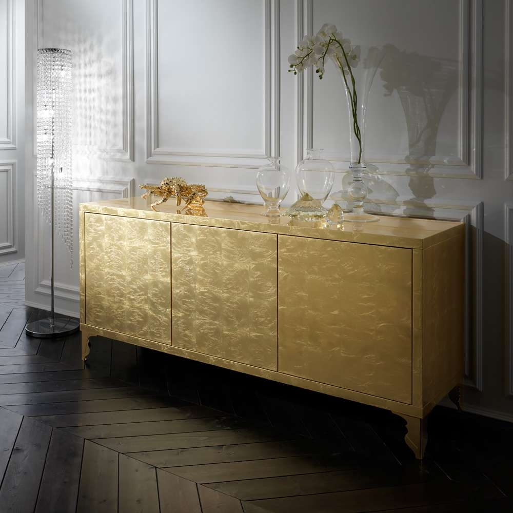 Gold Leaf Buffet Sideboard | Juliettes Interiors – Chelsea, London Intended For Gold Sideboards (Gallery 3 of 20)