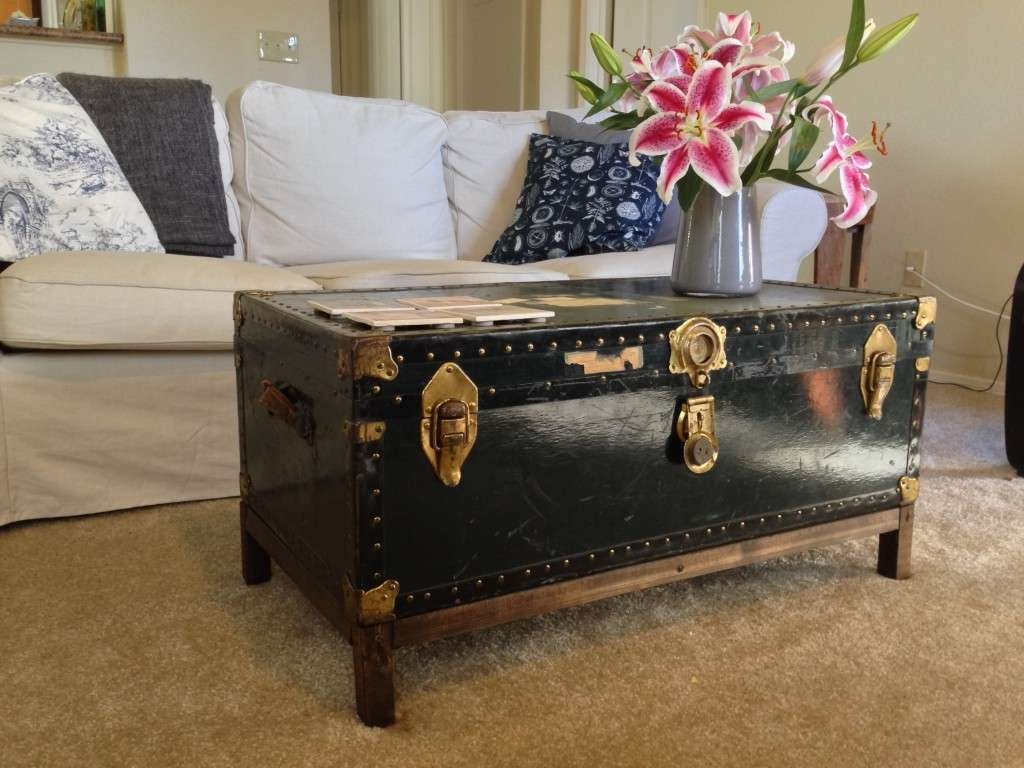 Good Old Trunk Coffee Table 79 On Home Decorating Ideas With Old With Regard To Most Current Old Trunks As Coffee Tables (View 2 of 20)
