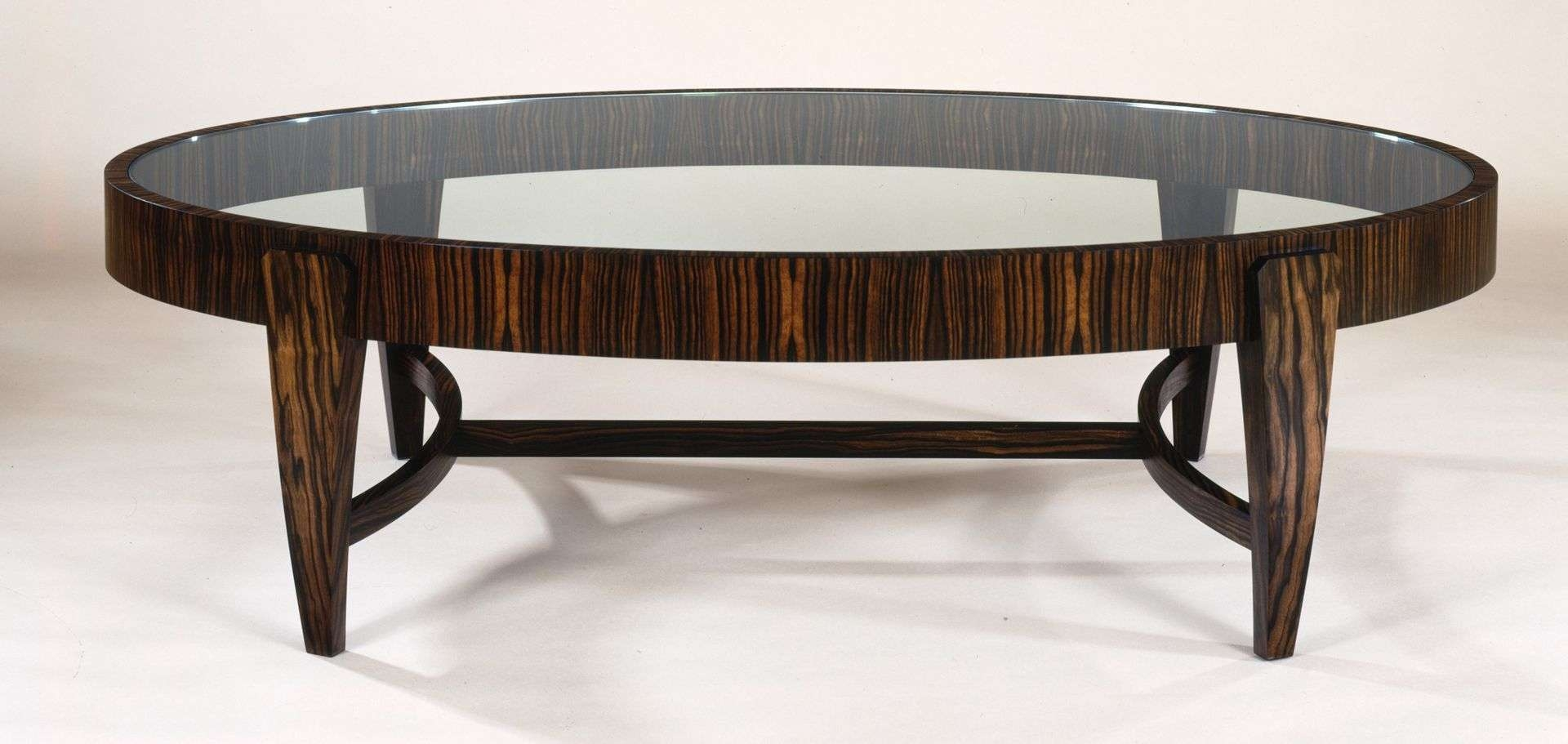 Gorgeous Oval Glass Coffee Table As Contemporary Furniture – Ruchi For Most Recently Released Oval Glass And Wood Coffee Tables (View 8 of 20)