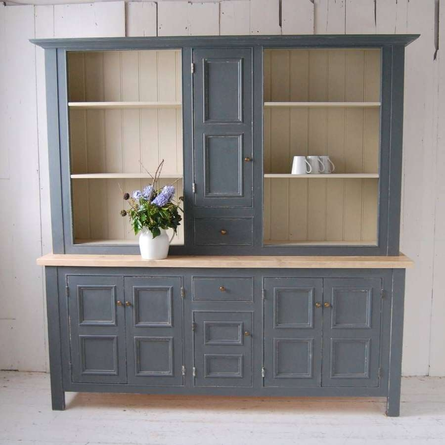 Gray Panelled Kitchen Dressereastburn Country Furniture With Kitchen Dressers And Sideboards (View 19 of 20)