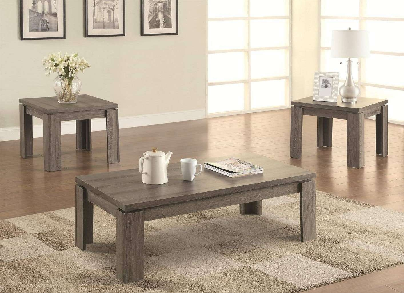 Grey Coffee Table Set With Trendy Grey Coffee Table Sets (View 5 of 20)