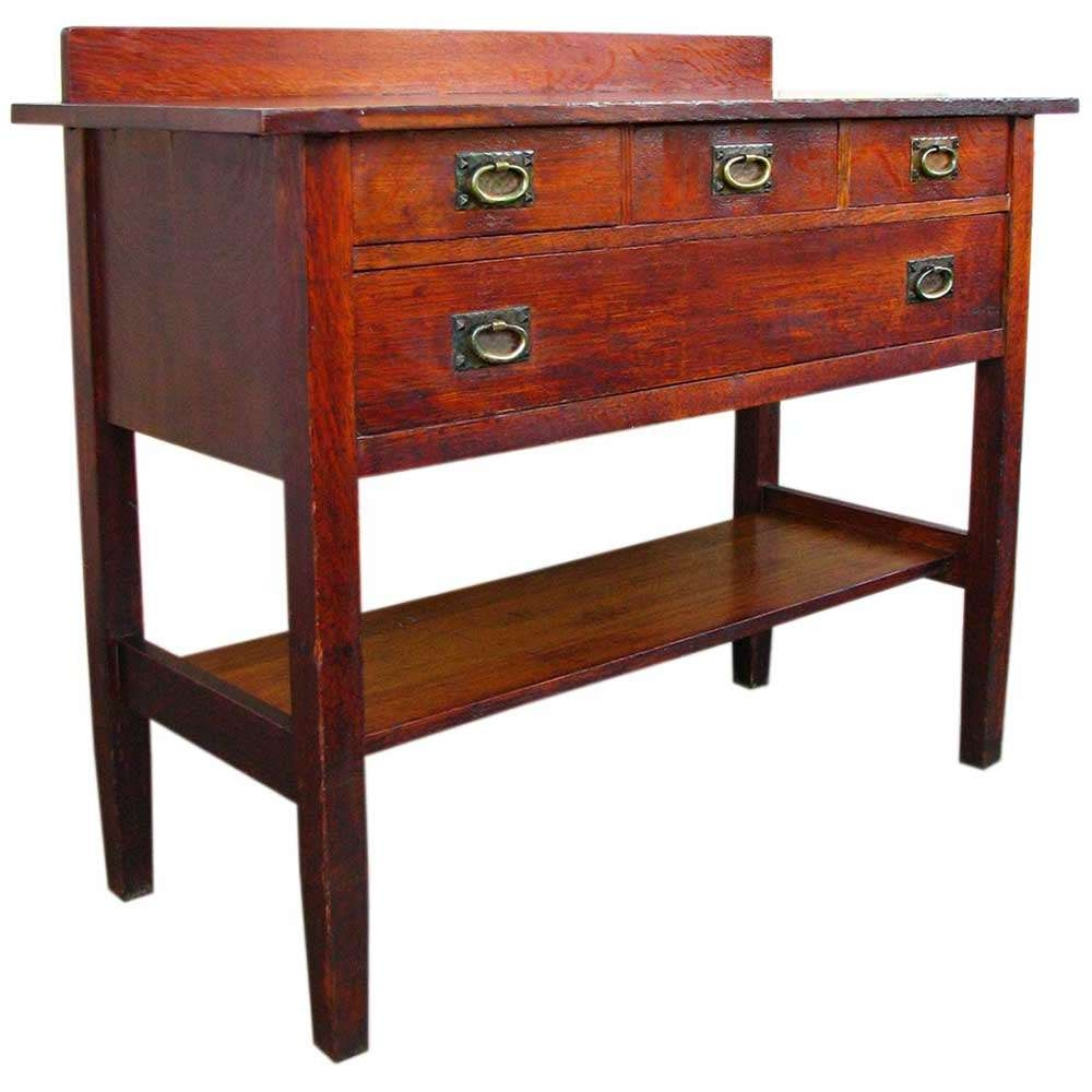 Gustav Stickley Sideboard W1209 – Joenevo Pertaining To Stickley Sideboards (View 10 of 20)