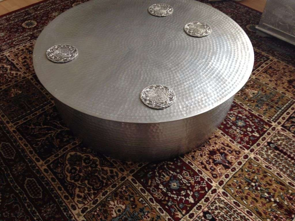 Habitat Orrico Hammered Aluminium Coffee Table ,3 Months Old Cost Inside Well Known Aluminium Coffee Tables (View 10 of 20)