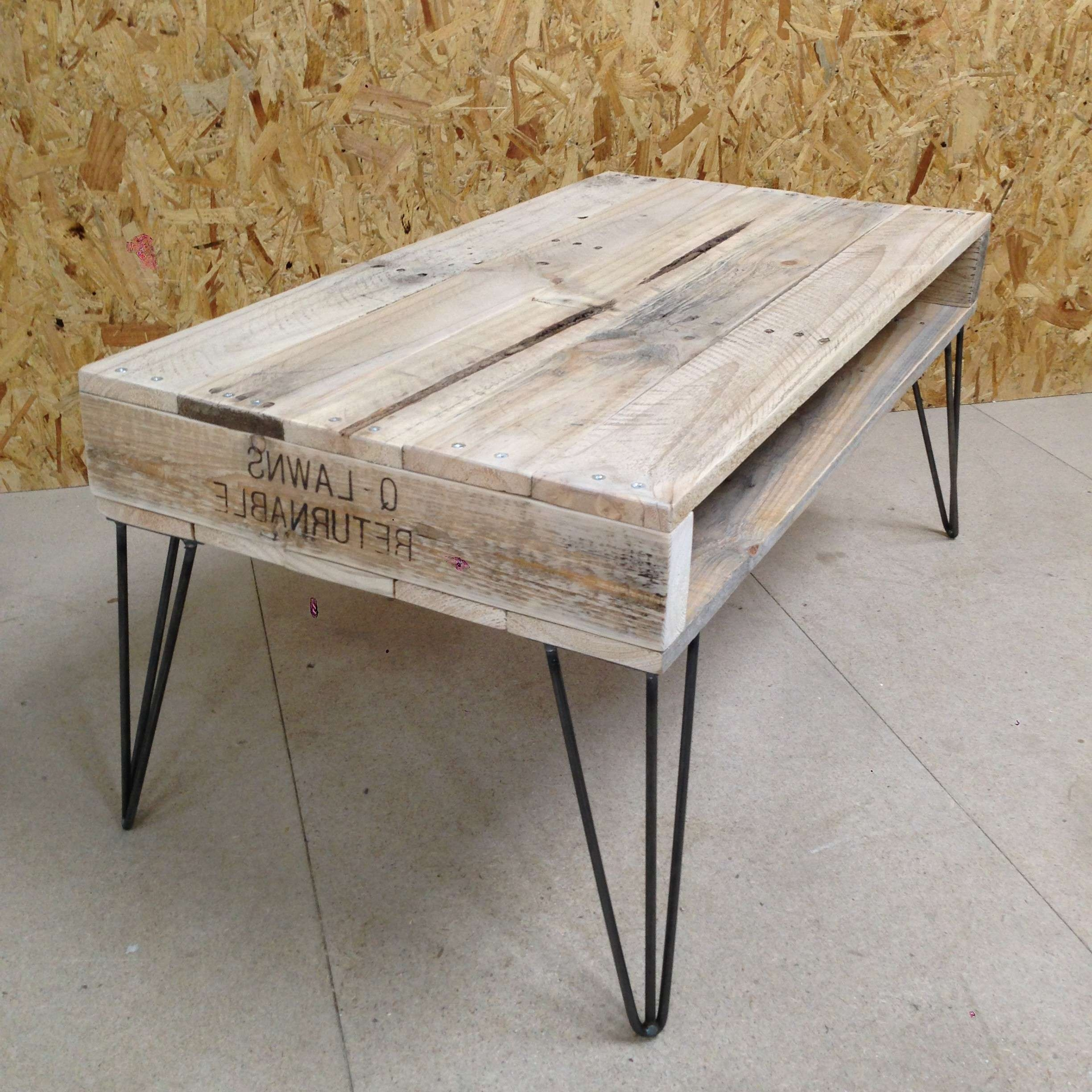 Hairpin Leg Coffee Table And Industrial Style Rectangle Unfinished Pertaining To Current Coffee Table Industrial Style (Gallery 16 of 20)