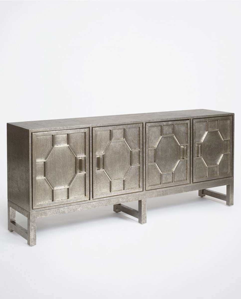 Hammered White Metal Sideboard | Luxe Furniture | Bowerbird Home With Metal Sideboards (View 2 of 20)