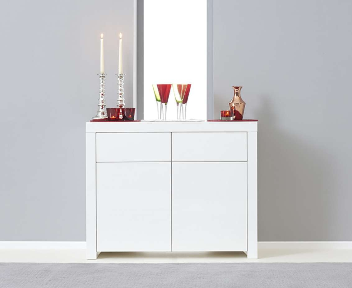 Hampstead 2 Door 2 Drawer White High Gloss Sideboard | The Great Intended For White High Gloss Sideboards (View 8 of 20)