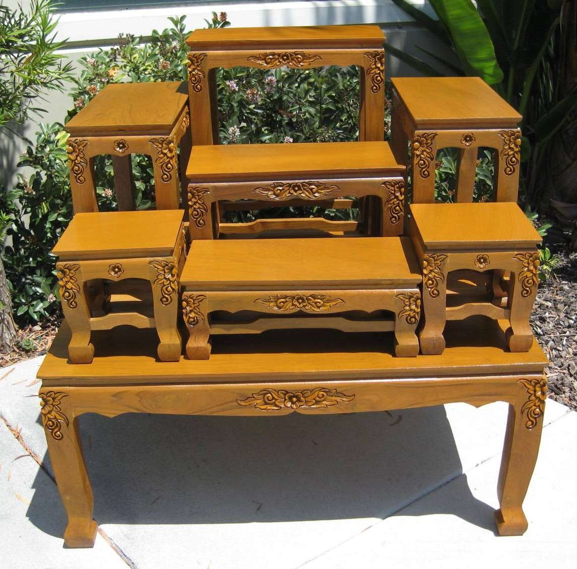 Hand Carved Coffee Tables, Opium Legs Tables, End Tables, Buddhist Regarding 2018 Buddha Coffee Tables (View 17 of 20)