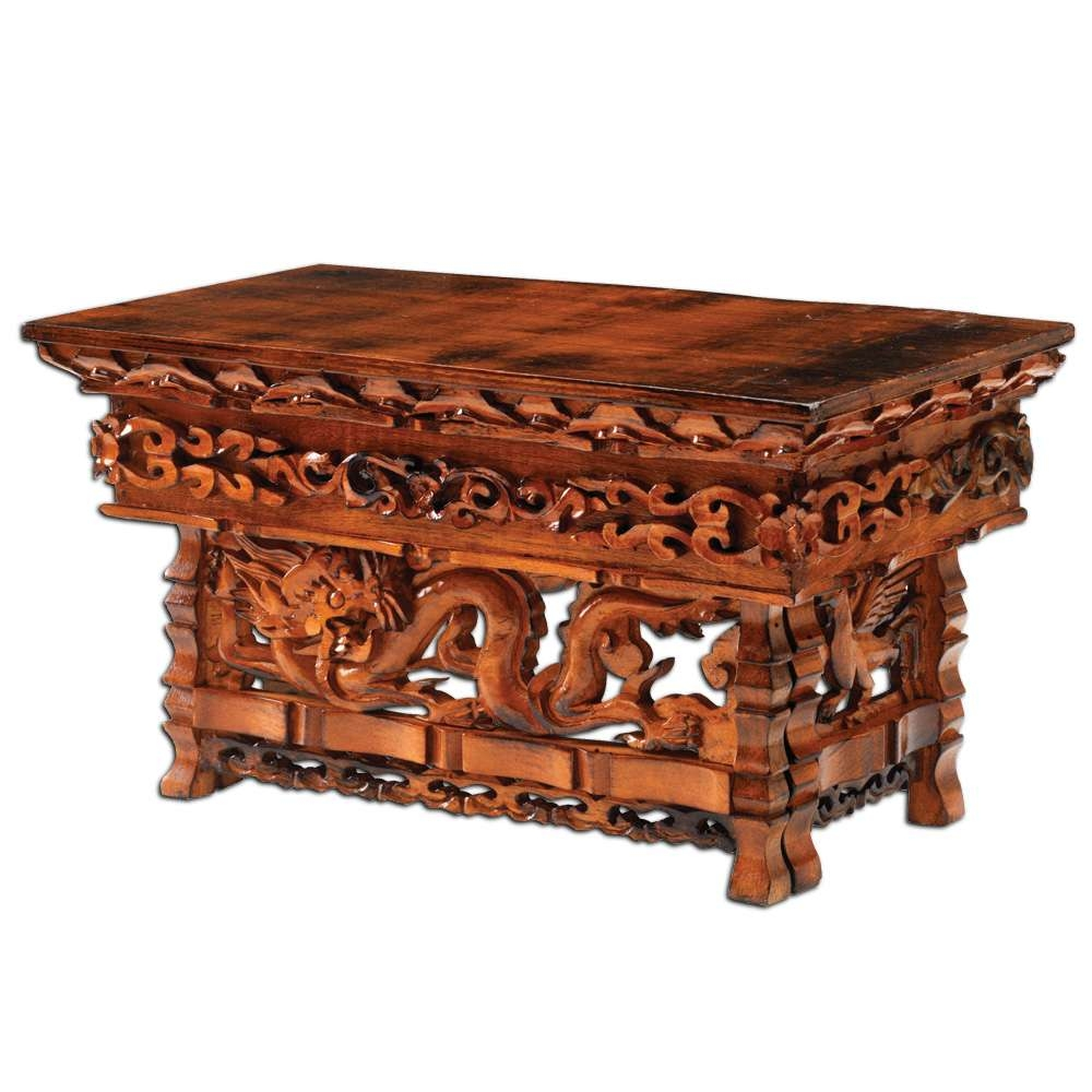 Hand Carved Dragon Altar Table: Dharmacrafts Regarding Most Current Dragon Coffee Tables (View 8 of 20)