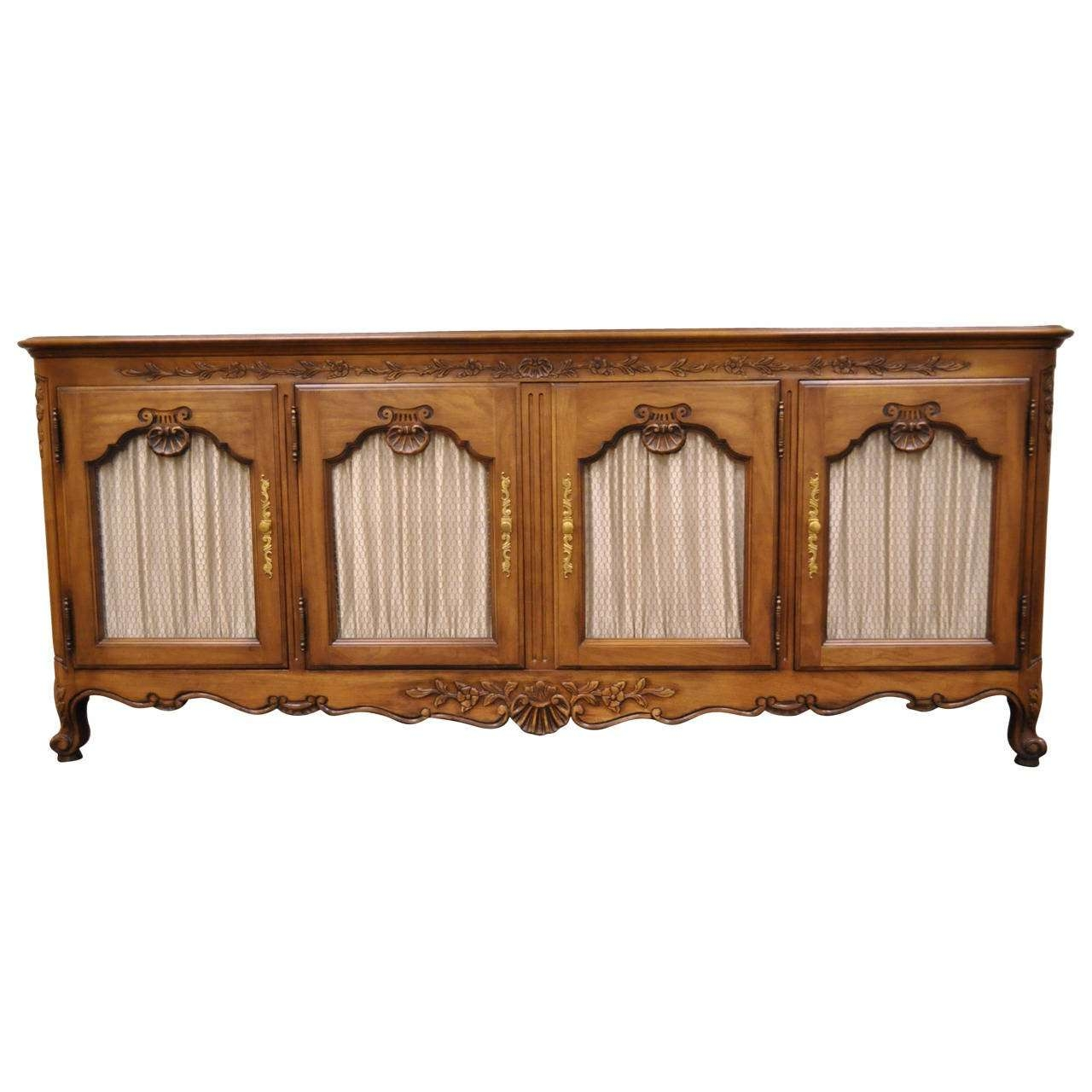 Hand Carved French Country Or Louis Xv Style Vintage Sideboard Throughout Vintage Sideboards (View 4 of 20)