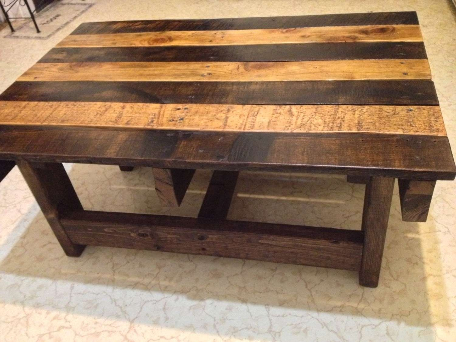Hand Crafted Handmade Reclaimed Rustic Pallet Wood Coffee Table With Most Recently Released Handmade Wooden Coffee Tables (View 12 of 20)