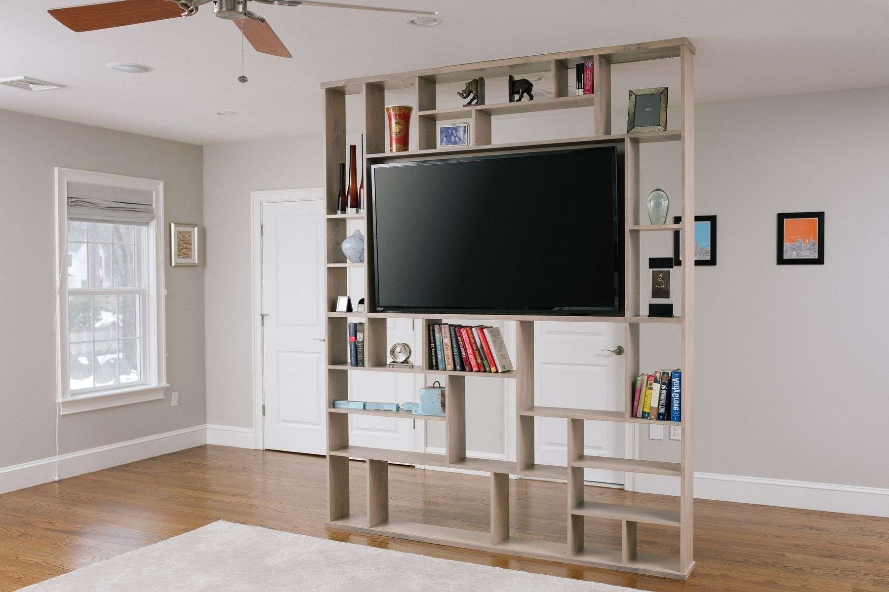 Hand Crafted Lexington Room Divider / Bookshelf / Tv Standcorl Pertaining To Tv Cabinets And Bookcase (View 9 of 20)