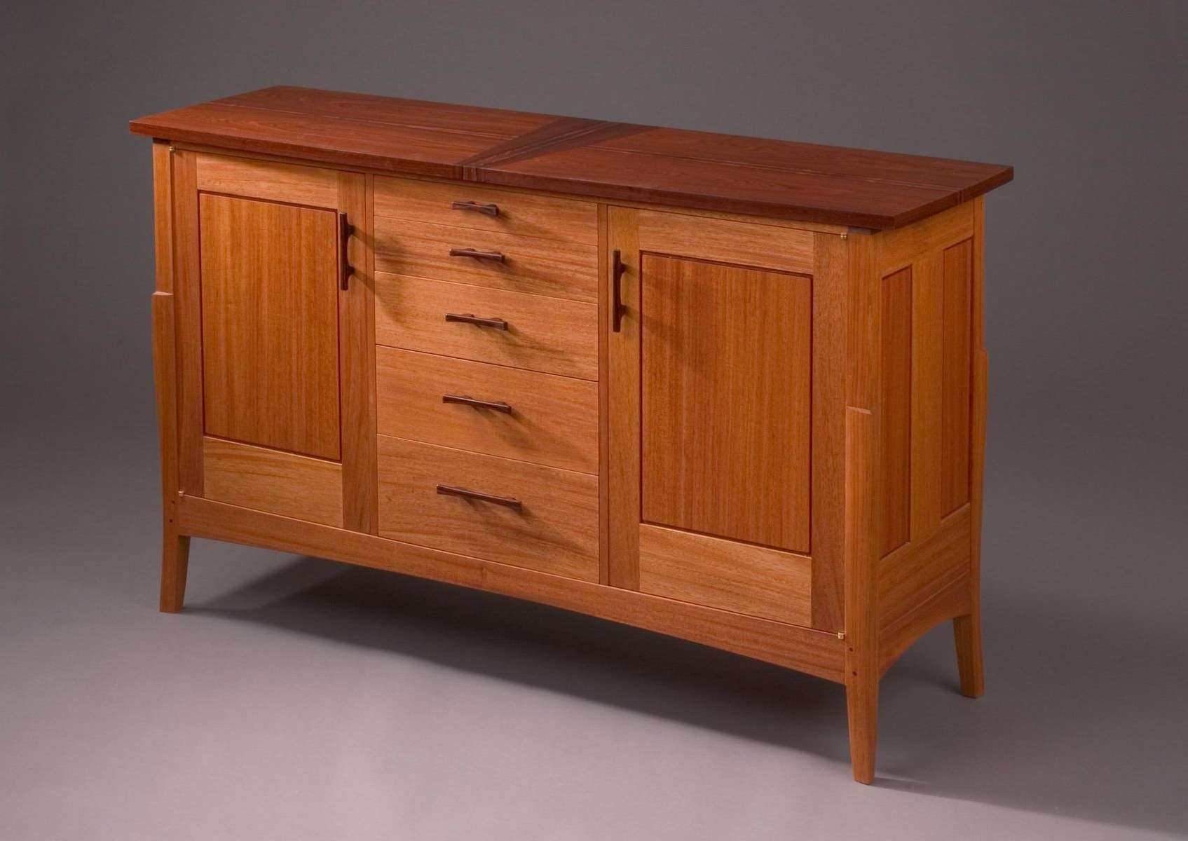 Hand Crafted Mahogany Musician's Sideboardpat Megowan Designer Within Mission Style Sideboards (View 15 of 20)