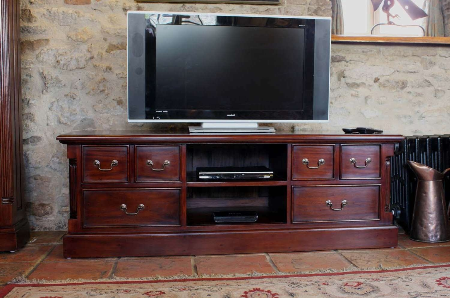 Hand Crafted Mahogany Tv Units And Media Unit | Tv Units Online In Mahogany Tv Cabinets (View 8 of 20)