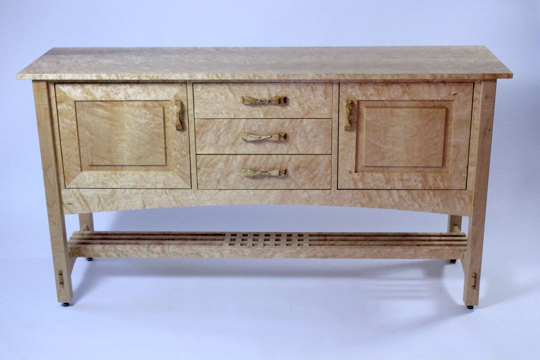 Hand Crafted Quilted Maple Arts And Crafts Sideboardberenguer With Maple Sideboards (View 7 of 20)