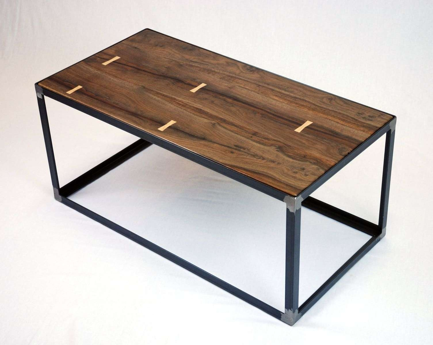 Hand Crafted Salvaged Black Walnut Industrial Coffee Table Within Popular Industrial Coffee Tables (View 9 of 20)