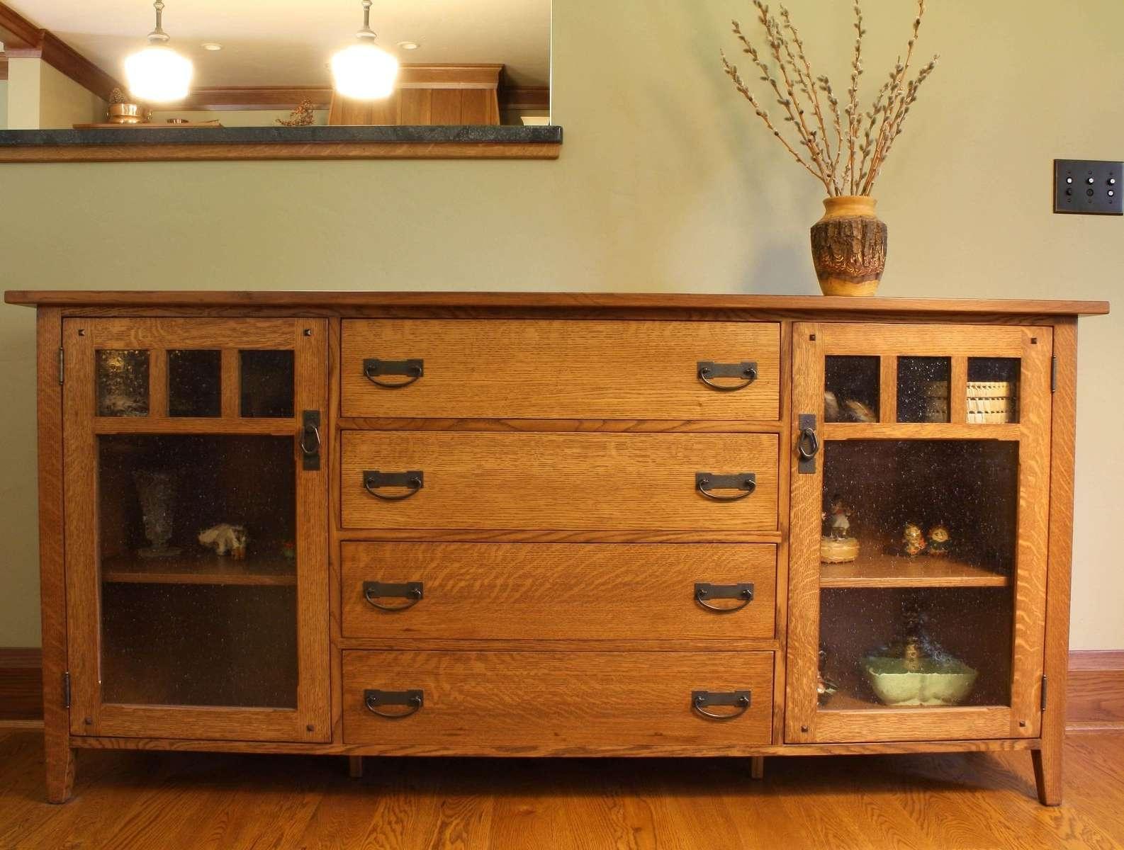 Hand Made Arts & Crafts Sideboardmontana Cabinet & Canoe Regarding Montana Sideboards (View 2 of 20)