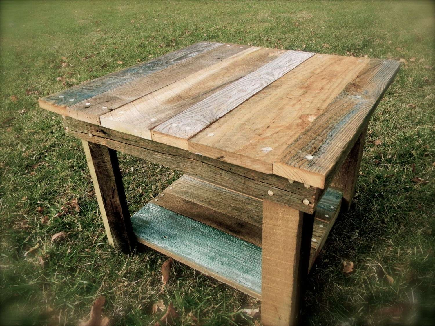 Hand Made Barnwood Coffee Table (Kennedy Collection)Rebarn For Favorite Rustic Barnwood Coffee Tables (View 6 of 20)