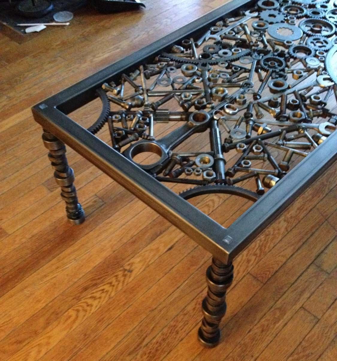 Hand Made Coffee Table Metal Coffee Table Metal Art Table For Well Known Art Coffee Tables (View 10 of 20)