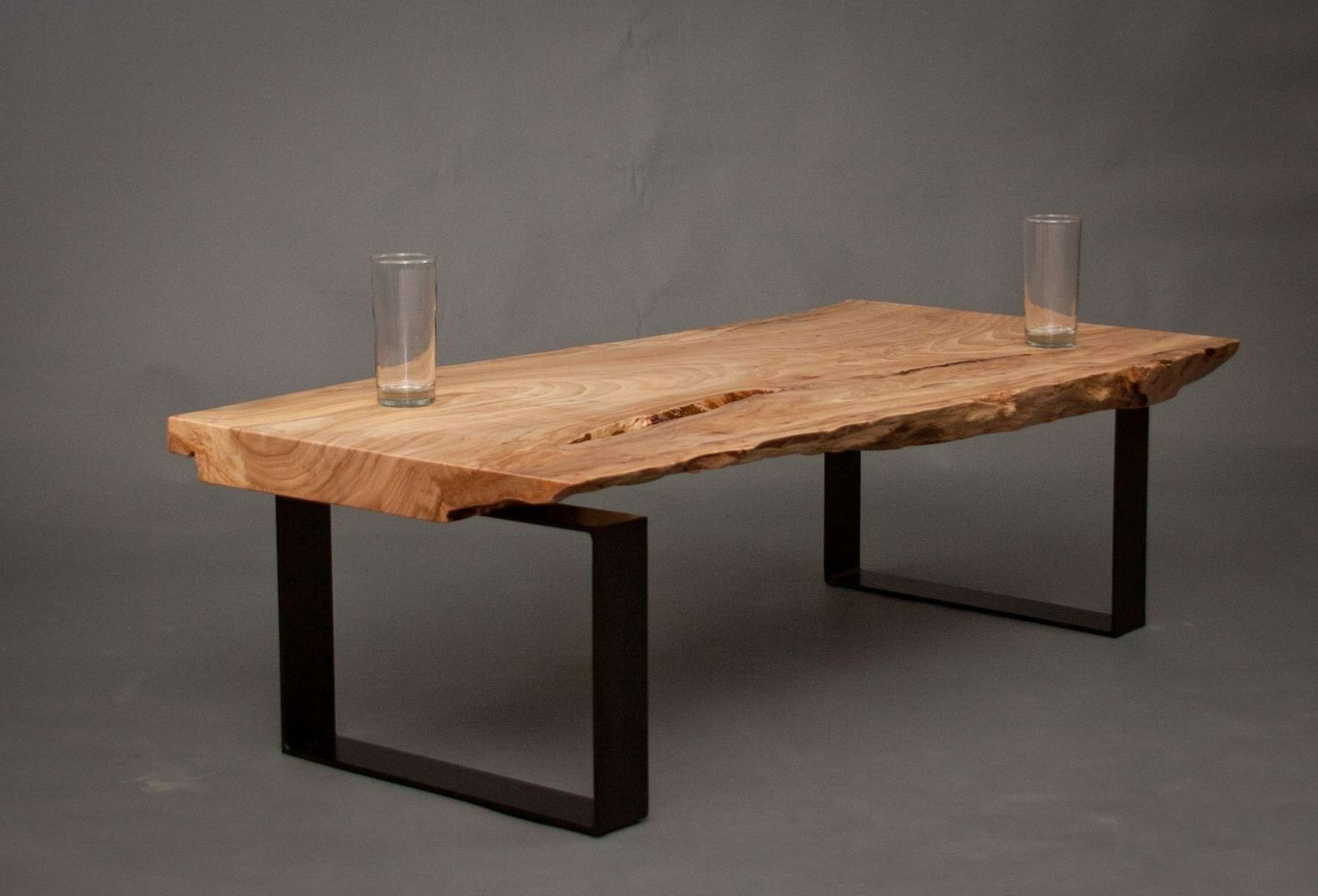 Hand Made Ellington – Reclaimed Elm Wood Coffee Tableelpis With Regard To Widely Used Desk Coffee Tables (View 7 of 20)