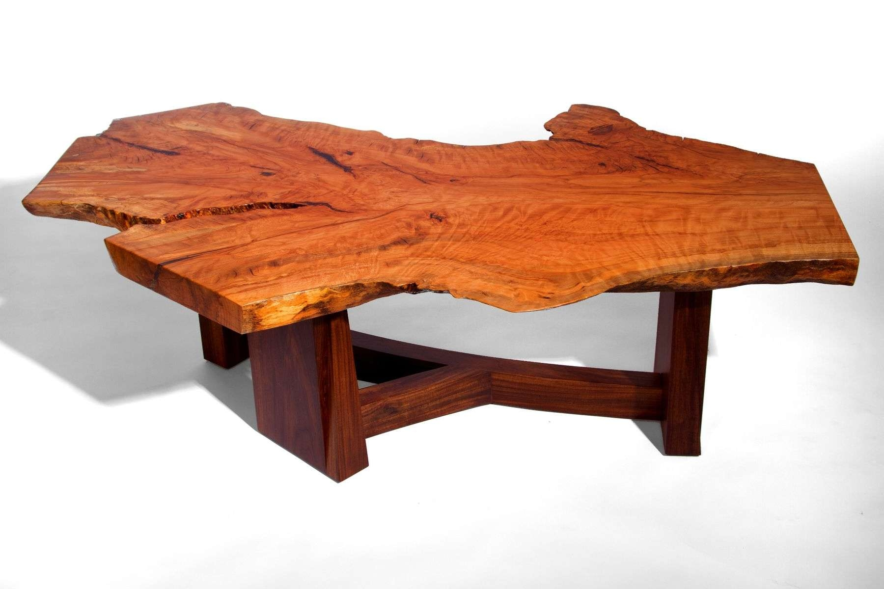 Hand Made Live Edge Beech Slab Coffee Tablej. Holtz Furniture For Most Popular Beech Coffee Tables (Gallery 2 of 20)