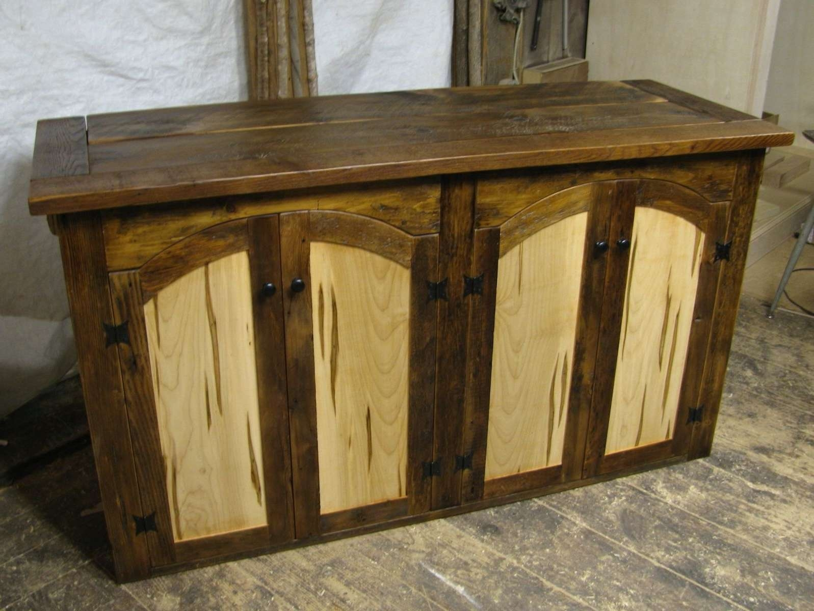 Hand Made Rustic Tv Lift Cabinet With Spaulted Maple Doors Intended For Maple Tv Cabinets (View 7 of 20)