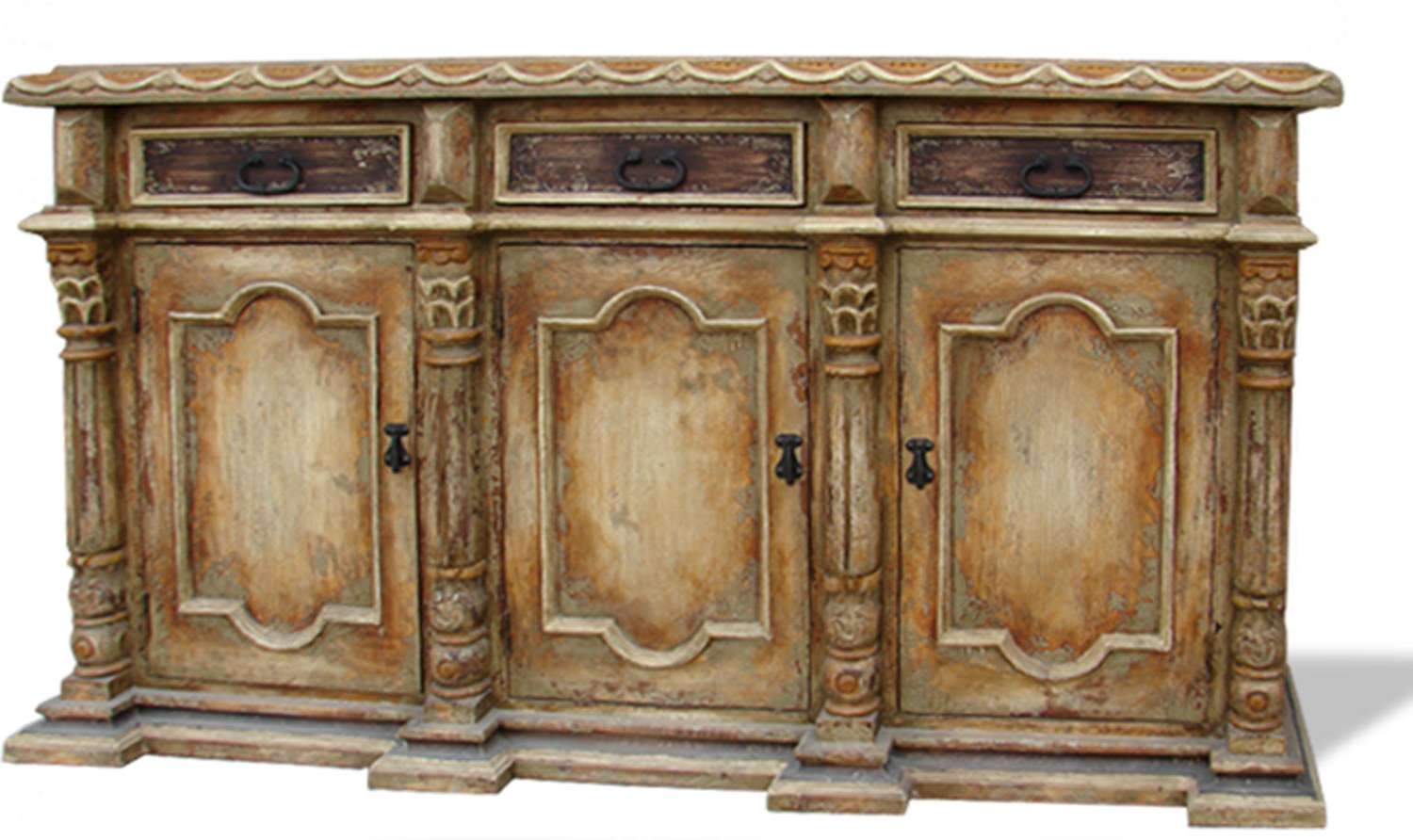 Hand Painted Buffet San Isidro Light Turquoise, Natural Brown With Hand Painted Sideboards (View 4 of 20)