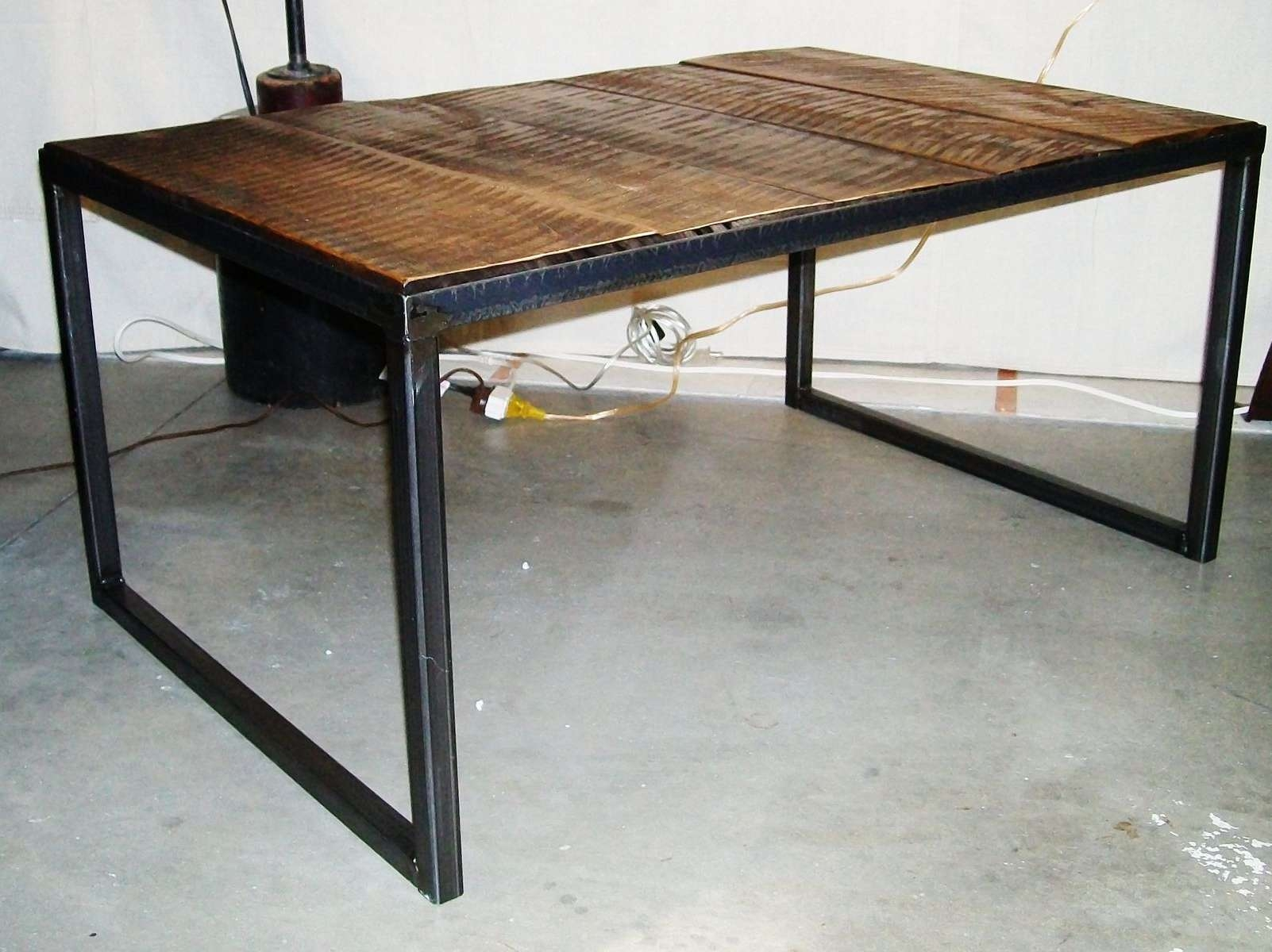 Handmade Industrial Wood & Steel Coffee Tablelucah Designs Regarding Most Popular Wood And Steel Coffee Table (Gallery 16 of 20)