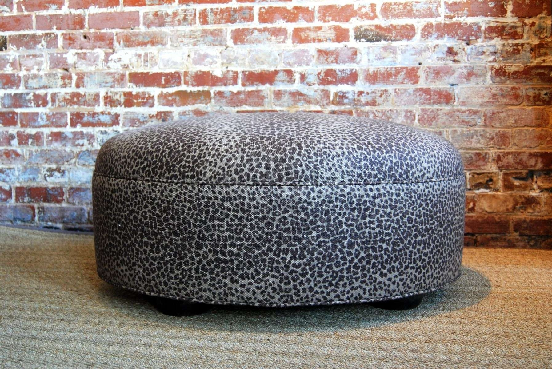 Handmade Large Leopard Ottoman / Coffee Tablemartha And Ash With Most Popular Leopard Ottoman Coffee Tables (View 11 of 20)