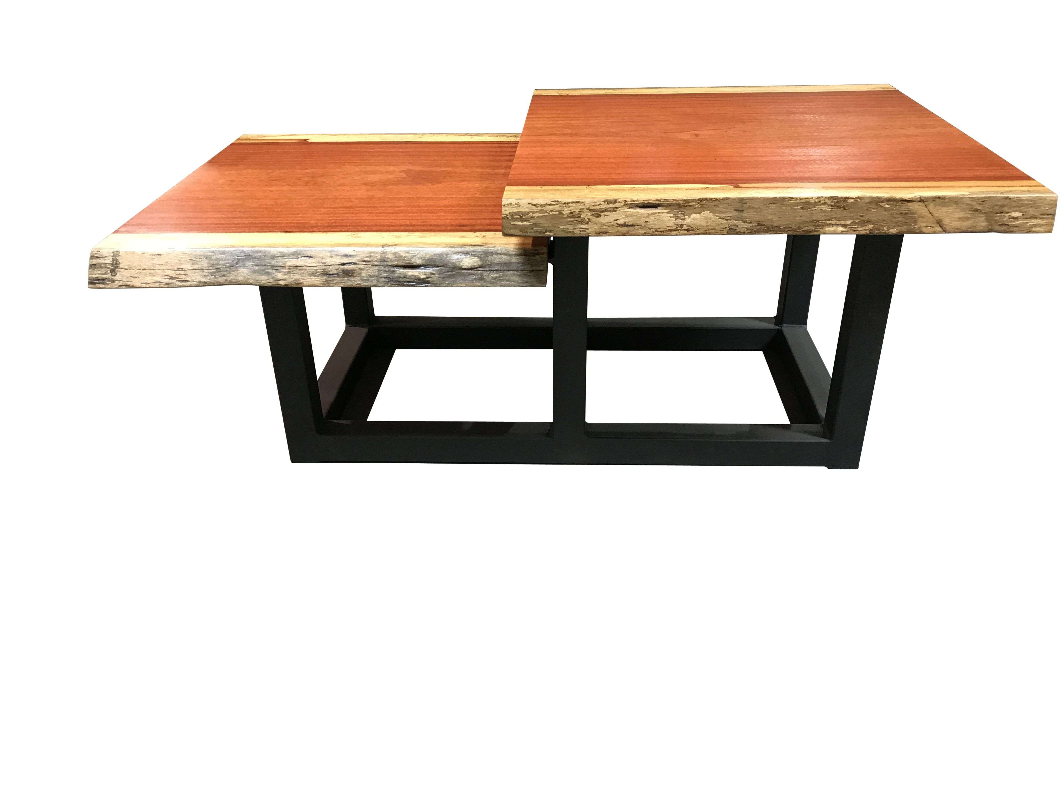 Handmade Tiered Live Edge Coffee Table Solid Blood Woodblowing For Well Known Live Edge Coffee Tables (View 8 of 20)