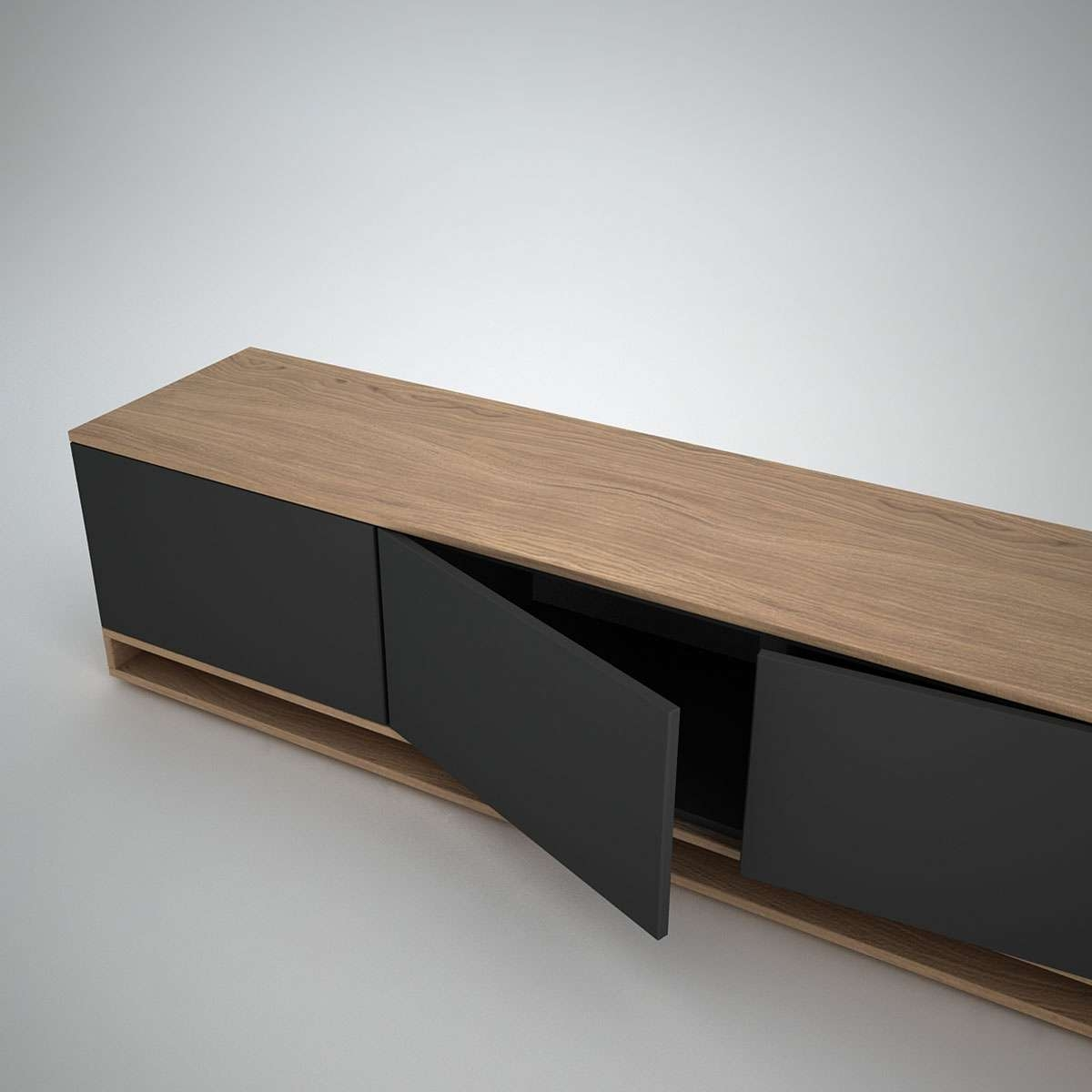 Harlem Low Sideboard (3) Anthracite – Join Furniture With Regard To Low Sideboards (View 2 of 20)